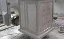 CNC inscription chiseling into stone